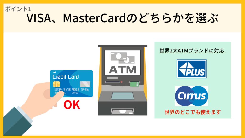 海外キャッシングしやすい国際ブランドはVISAとMasterCardとJCBの3つ