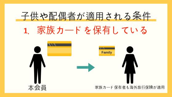 家族カードにも海外旅行保険が適用される