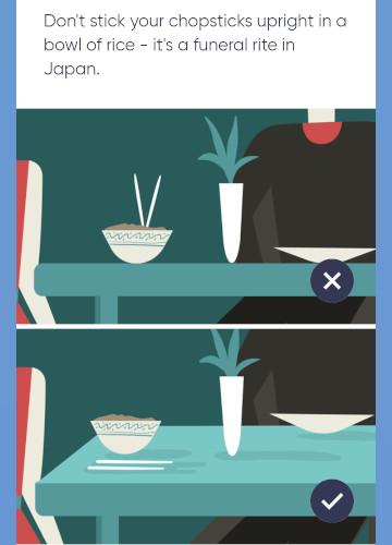 箸をご飯の上に立ててはいけません