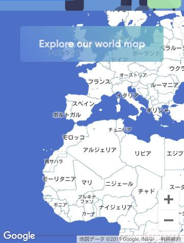 マップから国を選択
