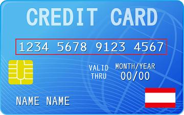 クレジットカードの16桁の番号