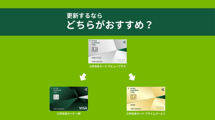 三井住友カード デビュープラスを更新するならクラシックとプライムゴールドどちらがいい?